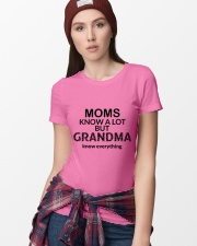 Moms knows a lot but grandma knows everything Ladies T-Shirt lifestyle-women-crewneck-front-9