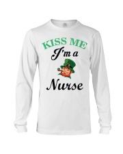 Kiss Me I Am A Nurse Long Sleeve Tee thumbnail
