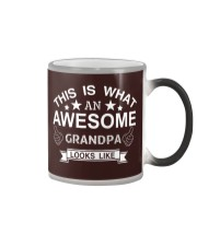 This is what an awesome GRANDPA looks like Color Changing Mug tile