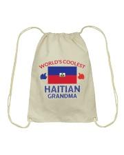 World coolest haitian grandma Drawstring Bag thumbnail