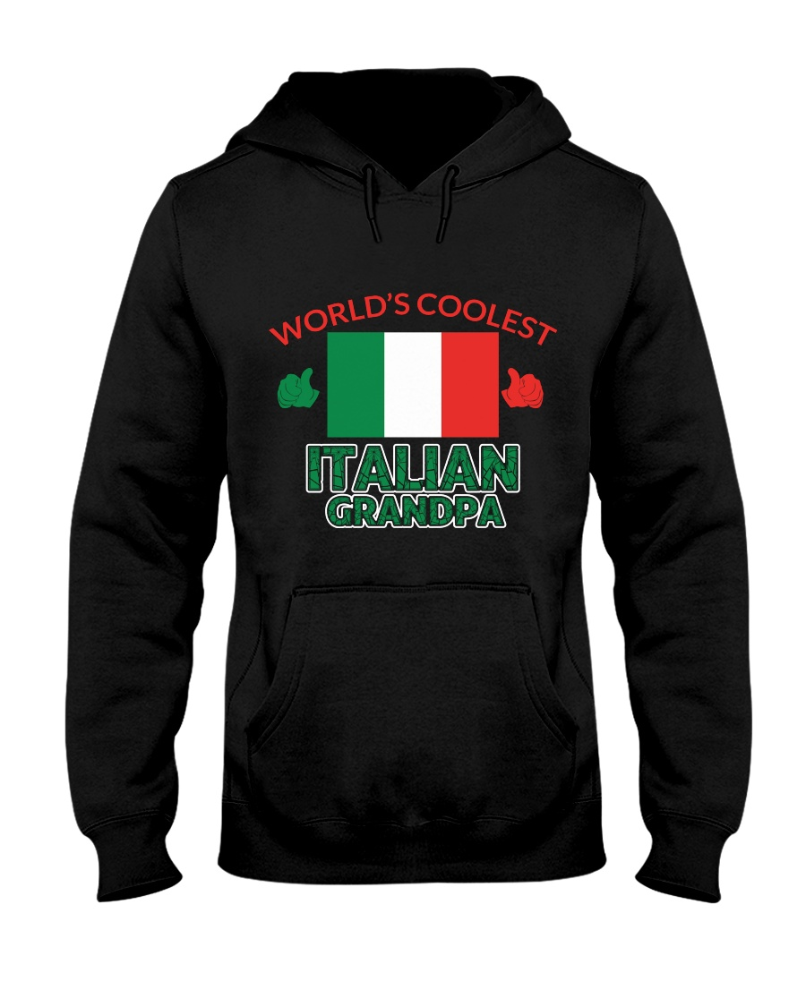 World coolest Italian Granpa Hooded Sweatshirt showcase