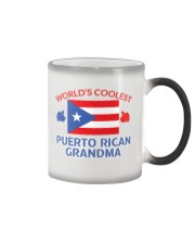 World coolest Puerto rican grandma Color Changing Mug tile