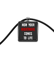 Now Your Nightmare Comes To Life Cord Rectangle Necklace thumbnail