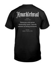 Knucklehead Definition Classic T-Shirt back