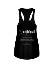 Knucklehead Definition Ladies Flowy Tank thumbnail