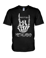 Proud to be a Metalhead V-Neck T-Shirt front