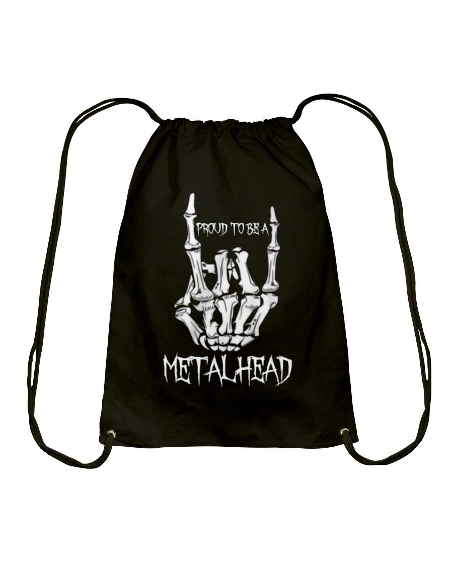 Proud to be a Metalhead Drawstring Bag