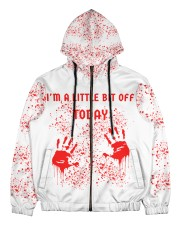I'm a little bit off today Men's All Over Print Full Zip Hoodie thumbnail