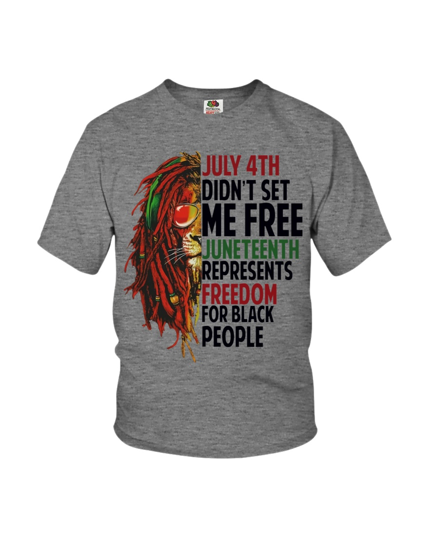 Justice for George Floyd July 4th Lion Youth T-Shirt