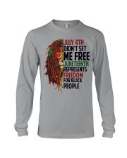 Justice for George Floyd July 4th Lion Long Sleeve Tee thumbnail
