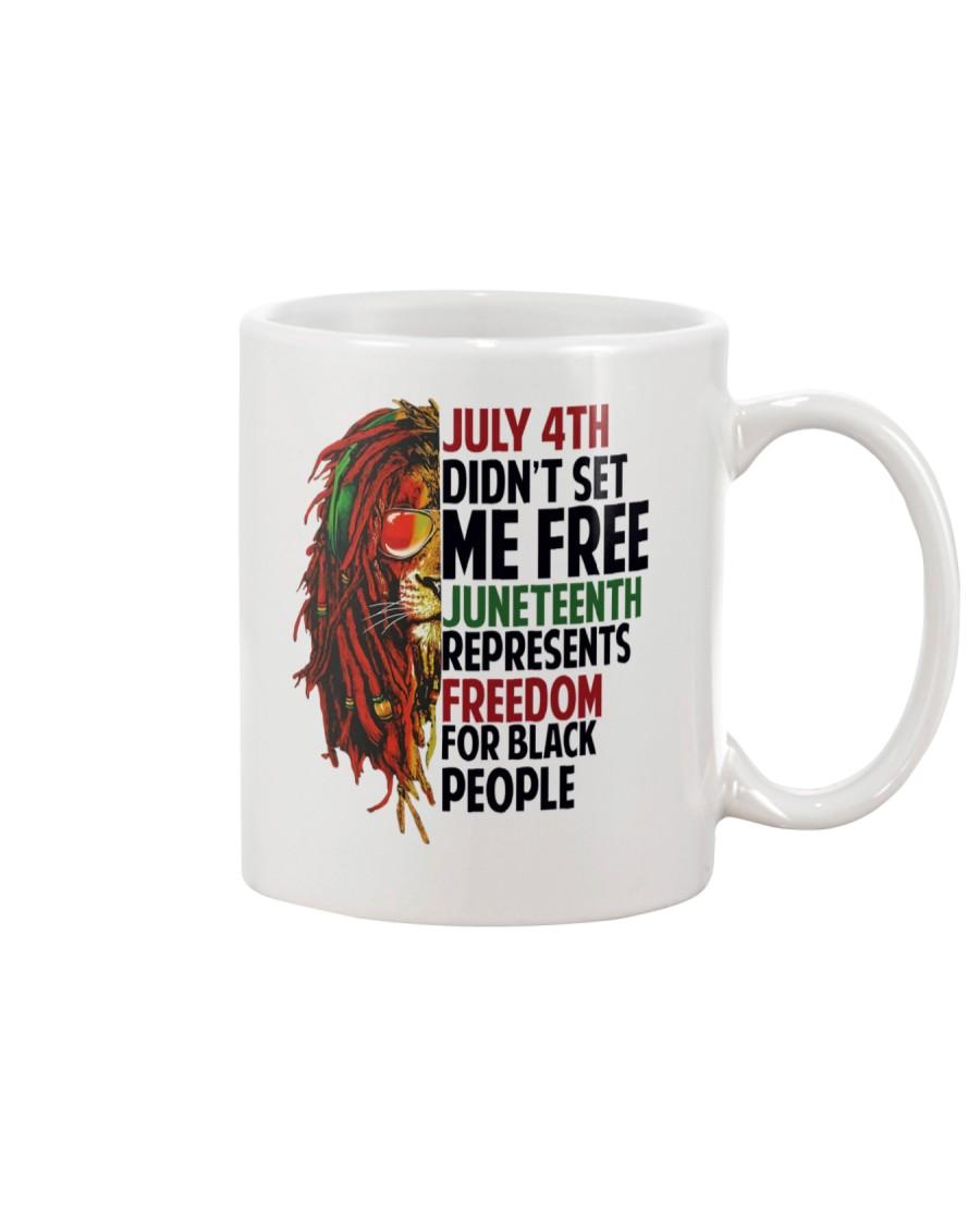 Justice for George Floyd July 4th Lion Mug