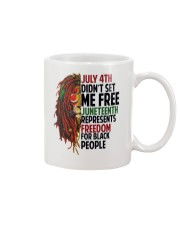 Justice for George Floyd July 4th Lion Mug thumbnail