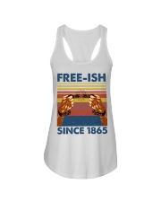 Justice for George Floyd Freeish since 1865 Ladies Flowy Tank thumbnail