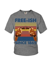 Justice for George Floyd Freeish since 1865 Youth T-Shirt thumbnail