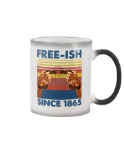 Justice for George Floyd Freeish since 1865 Color Changing Mug thumbnail