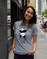 Be like a Panda  Ladies T-Shirt lifestyle-women-crewneck-front-5