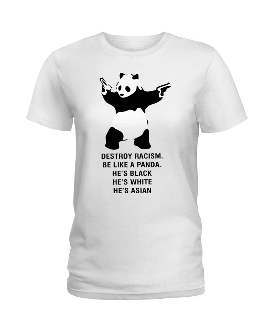 Be like a Panda  Ladies T-Shirt