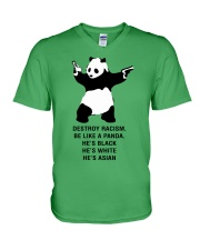 Be like a Panda  V-Neck T-Shirt tile