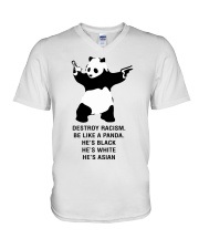 Be like a Panda  V-Neck T-Shirt front