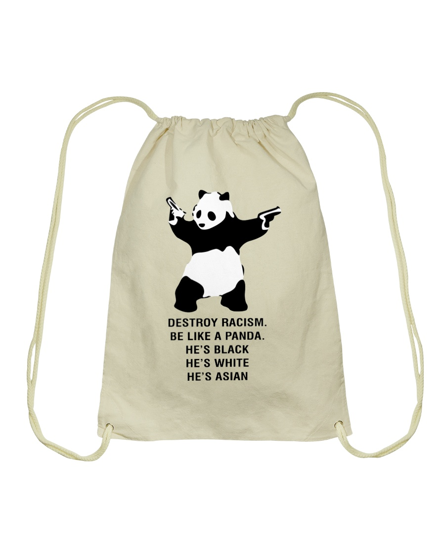Be like a Panda  Drawstring Bag