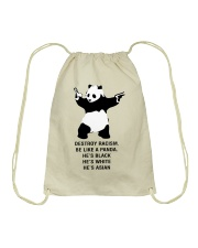 Be like a Panda  Drawstring Bag thumbnail