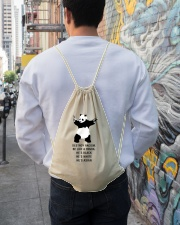 Be like a Panda  Drawstring Bag lifestyle-drawstringbag-front-1