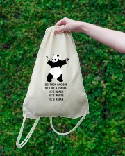 Be like a Panda  Drawstring Bag lifestyle-drawstringbag-front-3