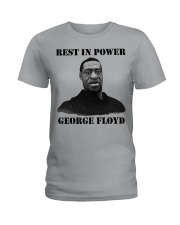 Justice for George Floyd Rest in Power Ladies T-Shirt thumbnail