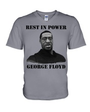 Justice for George Floyd Rest in Power V-Neck T-Shirt thumbnail