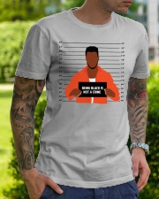 Justice for George Floyd Not a crime Classic T-Shirt lifestyle-mens-crewneck-front-7