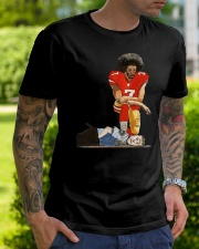 Justice for george floyd Colin Kaepernick kneeling Classic T-Shirt lifestyle-mens-crewneck-front-7