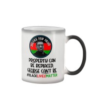 Justice for George Floyd Property can be replaced Color Changing Mug tile