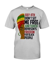 Justice for George Floyd July 4th Women Classic T-Shirt front