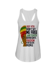 Justice for George Floyd July 4th Women Ladies Flowy Tank thumbnail