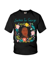 Justice for George Floyd Floral Wreath Youth T-Shirt thumbnail