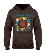 Justice for George Floyd Floral Wreath Hooded Sweatshirt thumbnail