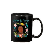 Justice for George Floyd Floral Wreath Mug thumbnail