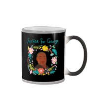 Justice for George Floyd Floral Wreath Color Changing Mug thumbnail