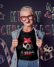 old english sheepdog mom Ladies T-Shirt lifestyle-holiday-crewneck-front-3