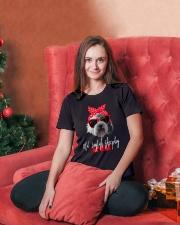 old english sheepdog mom Ladies T-Shirt lifestyle-holiday-womenscrewneck-front-2