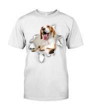 beagle torn in shirt  Premium Fit Mens Tee front