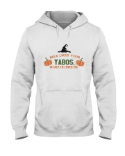 Max likes your Yabos in fact he loves em hallowee Hooded Sweatshirt thumbnail