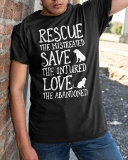 Rescue The Mistreated Save The Injured Classic T-Shirt apparel-classic-tshirt-lifestyle-27