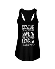 Rescue The Mistreated Save The Injured Ladies Flowy Tank thumbnail