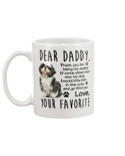 shih tzu coffee mug father's day occasion Mug back