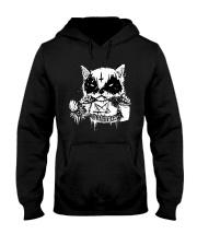Black Metal Cat Hooded Sweatshirt thumbnail