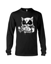 Black Metal Cat Long Sleeve Tee thumbnail