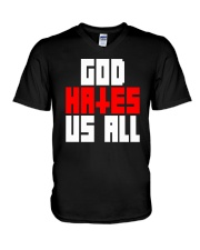 God Hates Us All V-Neck T-Shirt thumbnail