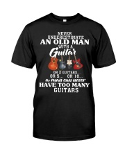 HAVE TOO MANY GUITARS Classic T-Shirt front