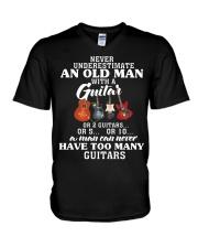 HAVE TOO MANY GUITARS V-Neck T-Shirt thumbnail